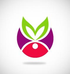 beauty leaf spa ecology logo vector image
