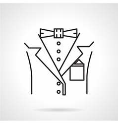 Black line icon for male suit vector image