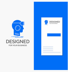 Business logo for vr googles headset reality vector