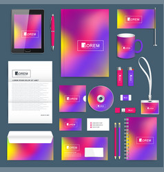 business set of corporate identity template vector image