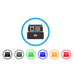 Card index rounded icon vector