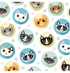 Cats and friends breeds vector