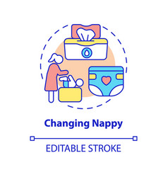 Changing nappy concept icon vector