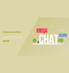 chat or chatting technology people concept for vector image
