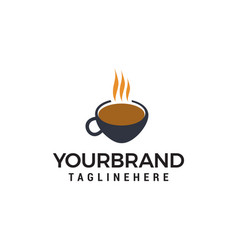 coffee cup logo design concept template vector image