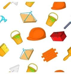 Construction pattern cartoon style vector image