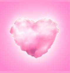 Cotton candy heart icon valentine sweet vector
