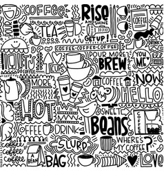 Crazy for coffee seamless pattern vector
