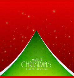 creative green christmas tree design background vector image