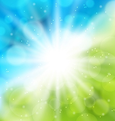 Cute nature background with lens flare vector image