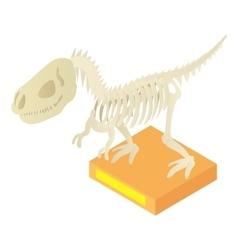 Dinosaur skeleton in museum icon cartoon style vector image