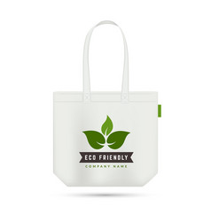 eco friendly shopping bag zero waste element vector image