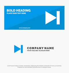 End forward last next solid icon website banner vector