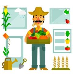 Farming elements vector