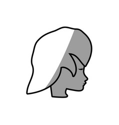 Female face profile character vector