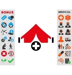 Field hospital icon vector