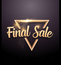Final sale lettering with rose gold glitter effect vector