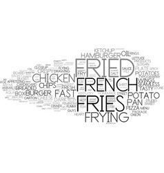 Fried word cloud concept vector