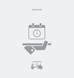 Full time services - web icon vector