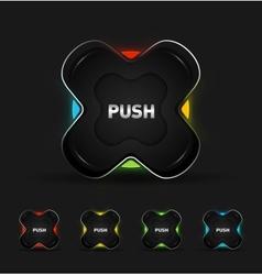 Futuristic button vector