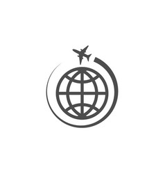 globe world icon graphic design template vector image