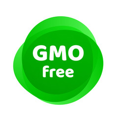 gmo free icon green non gmo logo sign vector image