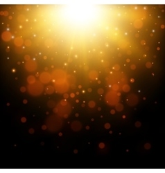 Gold glitter light background vector