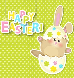 Greeting card for happy easter vector image