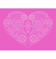 Heart design color vector