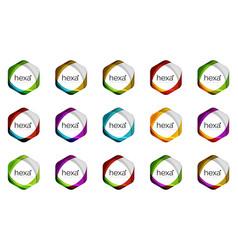 hexagon logo icon templates vector image
