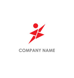 Jump people active abstract logo vector