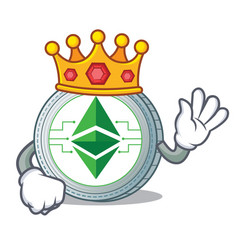 King ethereum classic character cartoon vector