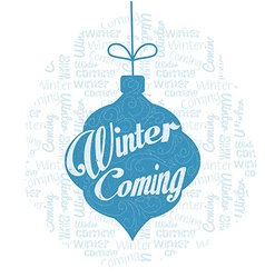 Lettering winter vector image