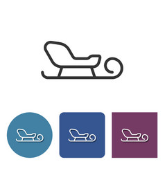 line icon of sleigh vector image