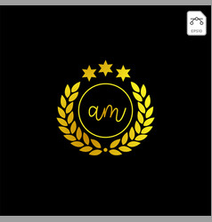 Luxury am initial logo or symbol business company vector