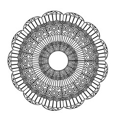 Mandala decorative ethnic element adult coloring vector