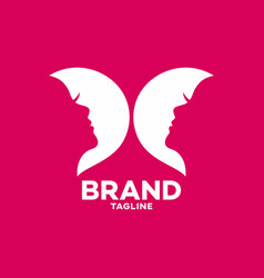 modern beauty and butterfly logo vector image