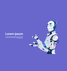 Modern robot futuristic artificial intelligence vector