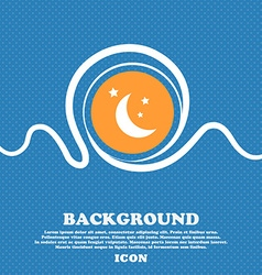 Moon icon sign Blue and white abstract background vector