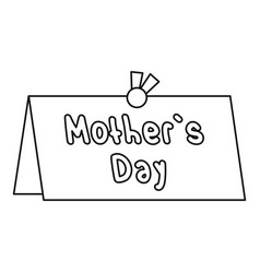mother day card icon outline style vector image