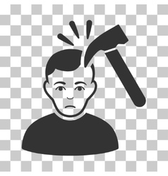 Murder With Hammer Icon vector image