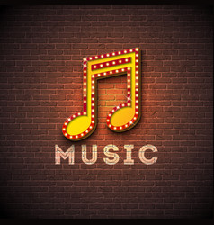 music with musical note lighting vector image