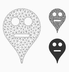 Neutral smiley map marker mesh carcass vector