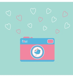 photocamera bird vector image