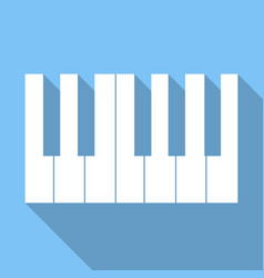 piano keys icon piano keys icon vector image