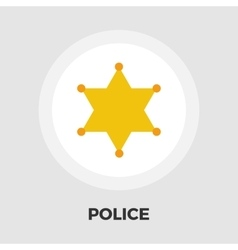 Police icon flat vector image