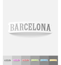 Realistic design element Barcelona vector