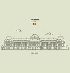 royal palace in brussels vector image