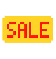 sale pixel art cartoon retro game style set vector image