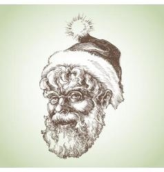 Santa Claus sketch portrait vector image